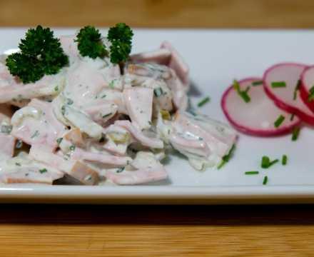Kräuterfleischsalat – schmeckt wie vom Metzger