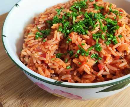 Tomaten- bzw. Duvecreis als Grillbeilage