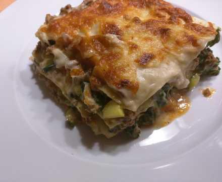 Lasagne mit Spinat – mal nicht so tomatig